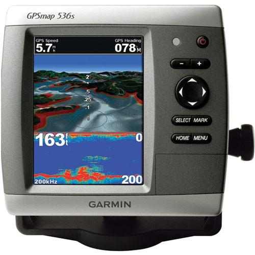 Garmin International GPSMAP 536S Combo GPS Chartplotter/Fishfinder with Dual Beam Transducer