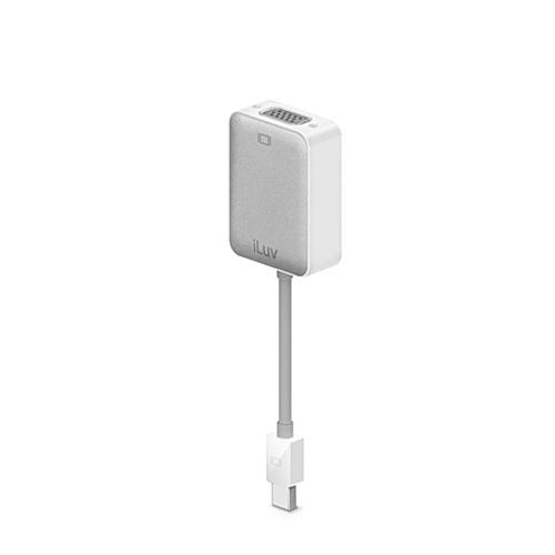 iLuv Creative Technology 2.4in Mini DisplayPort Thunderbolt to VGA Adapter - White