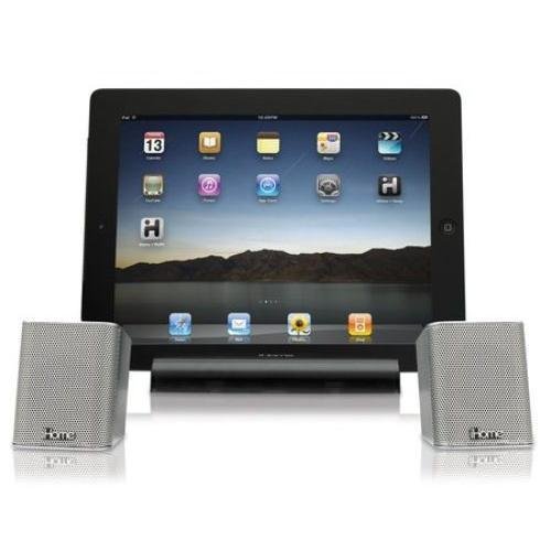 iHome Rechargeable Portable Bluetooth Speakers with Speakerphone for iPad/iPhone/iPod