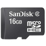 Sandisk Flash memory card - 16 GB - Class 4 - microSDHC - black SDSDQM-016G-B35