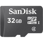 Sandisk Flash memory card - 32 GB - Class 4 - microSDHC - black SDSDQM-032G-B35