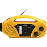 Compact Crank Solar Battery AM-FM WB Radio and Flashlight