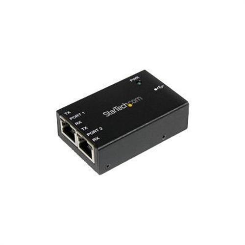 StarTech 2 Port Industrial USB to Serial RJ45 Adapter - Wallmount and DIN Rail - serial adapter