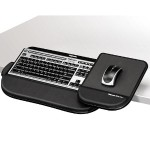 Keyboard Manager Tilt 'n Slide Pro - Keyboard and mouse platform with wrist pillow - black
