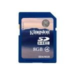 Flash memory card - 8 GB - Class 4 - SDHC (pack of 2)