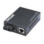 1000Base-T to 1000Base-SX (SC) Multi-Mode, 550 m (1800 ft.) Gigabit Ethernet Media Converter