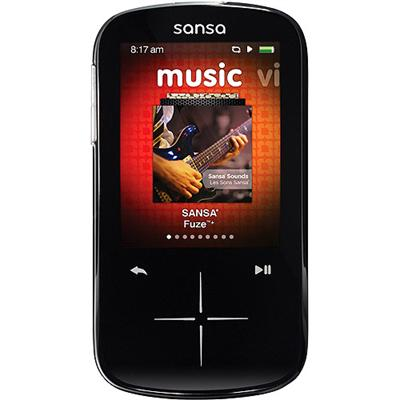 Sandisk Sansa Fuze + 8GB MP3 Player - Black - Refurbished (SDMX20R-008GK-A57R)