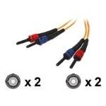 Patch cable - ST multi-mode (M) - ST multi-mode (M) - 6.6 ft - fiber optic - orange
