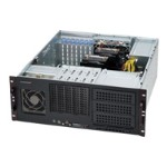 Supermicro SC842 i-500B - Rack-mountable - 4U - extended ATX - SATA/SAS - hot-swap 500 Watt - black - USB