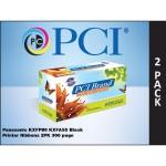 KXFP80 KXFA55 2-Pack Black Ribbons for Panasonic Printers