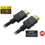Cable 25Ft HDMI M/M Gold Plated Black