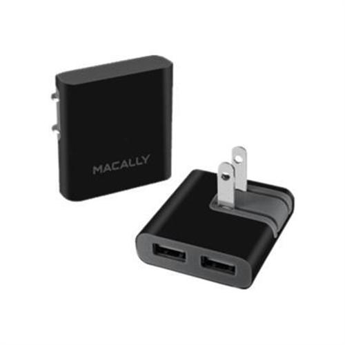 MacAlly Peripherals Dual USB Wall Mount Foldable