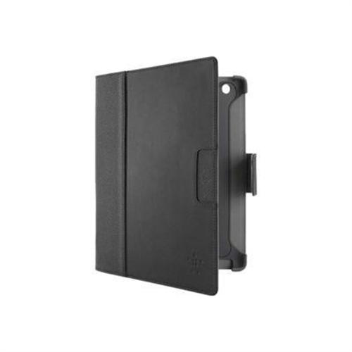 Belkin Cinema Leather Folio with Stand (No Magnets) for The New iPad - Blacktop/Cornerstone
