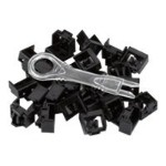 Port Lock 25 Pack & Key Black