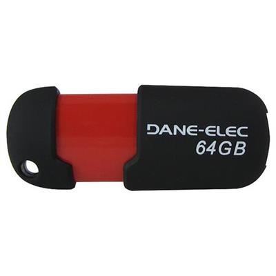 Dane-Elec Capless - USB flash drive - 64 GB (DA-Z64GCAN6-R)