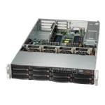 Supermicro SC829 BTQ-R920WB - Rack-mountable - 2U - SAS - hot-swap 920 Watt - black - USB/serial