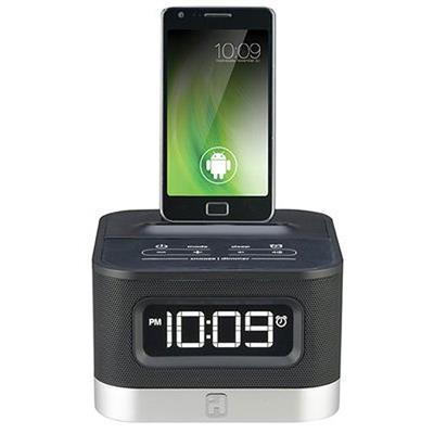 iHome iC50 FM Stereo Alarm Clock Radio for Android Smartphones (IC50B)