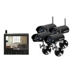 "SecurityMan DigiLCDDVR4 - Monitor + DVR + camera(s) - wireless - 7"" LCD - 4 channels - 4 camera(s) - CMOS"