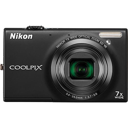 Nikon Coolpix S6100 16MP Digital Camera - Black - Refurbished