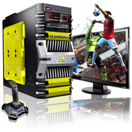 CybertronPC Fortress Intel Core i7 Quad-Core 2600K 3.40GHz Gaming PC - 16GB RAM, 1TB HDD, Blu-Ray ROM, Gigabit Ethernet, Yellow