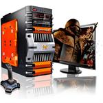CybertronPC Fortress AMD FX Octa-Core 8120 3.10GHz Gaming PC - 16GB RAM, 1TB HDD, Blu-ray ROM, Gigabit Ethernet, Orange TGM2221D