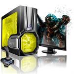 Vortex AMD FX Octa-Core 8120 3.10GHz Gaming PC - 16GB RAM, 64GB SSD + 1TB HDD, Blu-ray ROM, Gigabit Ethernet, Yellow