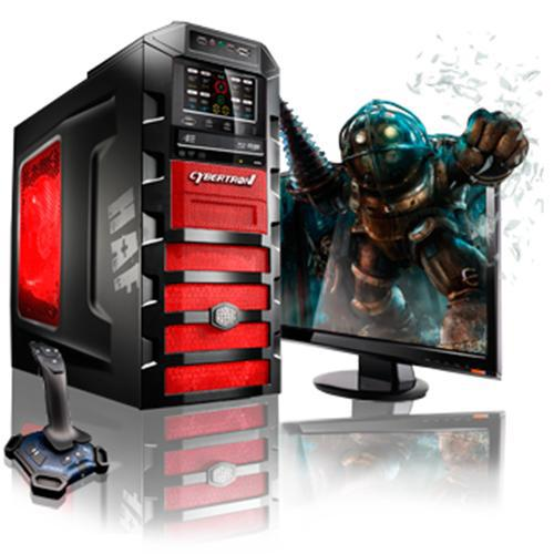CybertronPC Beast Intel Core i7 Quad-Core 2600K 3.40GHz Gaming PC - 16GB RAM, 2x64GB SSD + 1TB HDD, Blu-Ray ROM, Gigabit Ethernet, Red