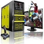 Maelstrom Intel Core i7 Quad-Core 2600K 3.40GHz Gaming PC - 16GB RAM, 64GB SSD + 1TB HDD, Blu-Ray ROM, Gigabit Ethernet, Yellow