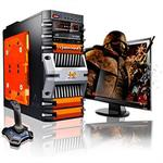 CybertronPC Fortress AMD FX Octa-Core 8120 3.10GHz Gaming PC - 16GB RAM, 1TB HDD, Blu-Ray ROM, Gigabit Ethernet, Orange TGM2241G