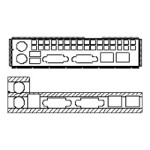 Chenbro America I/O Gasket - System I/O shield panel - for  RM11602, RM12700, RM13108, RM13108T, RM13204, RM13704 84H314110-008