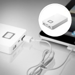External battery pack Li-Ion 5200 mAh - for LIBRE Color Touch eBook Reader, Touch eBook Reader; Apple iPad 1; 2; iPhone 3G, 3GS, 4, 4S