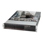 Supermicro SC213 A-R740WB - Rack-mountable - 2U - SATA/SAS - hot-swap - power supply - redundant 740 Watt - black - for SUPERMICRO X9DRW-3F, X9DRW-IF; SuperServer 2027R-WRF