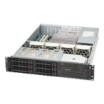 Supermicro SC823 TQ-653LPB - Rack-mountable - 2U - extended ATX - SATA/SAS - hot-swap 650 Watt - black