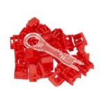 Port Lock 25 Pack & Key Red