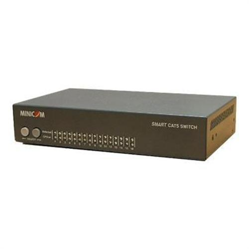 TrippLite Minicom Smart CAT5 Switch 116 SPU - KVM switch - 16 ports - rack-mountable