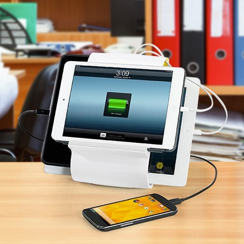 KANEX Sydnee Smart Recharge Station For iPad and iPhone - White