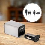 iPad / iPhone / iPod & USB Device 4-In-1 Combo Charger