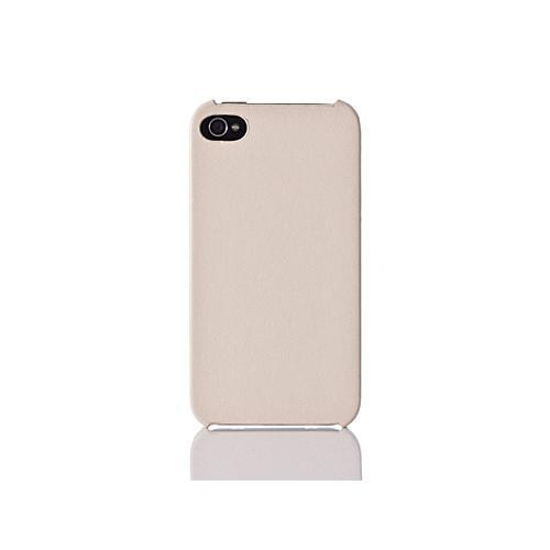 Simplism Leather Cover Set for iPhone 4S - Beige White