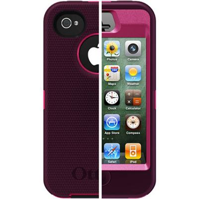 Otterbox iPhone 4 / 4S Defender Series Case - Peony Pink / Deep Plum (77-18587)