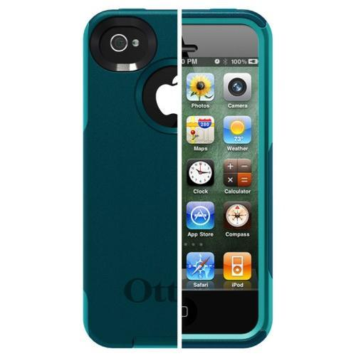 Otterbox iPhone 4 / 4S Commuter Series Case -  Deep Teal / Light Teal