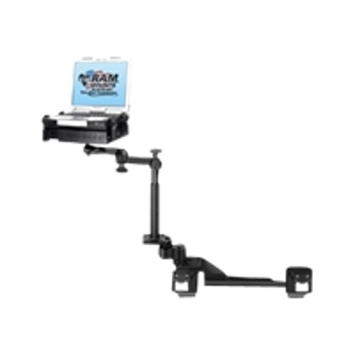 MacMall | RAM Mounts No-Drill Laptop Mount RAM-VB-182-SW1 - Mounting kit  (tray, mounting base, dual swing arm, 4 support arms, 2 poles) for notebook  -