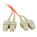 2M Multimode 62.5/125 Duplex Fiber Patch Cable SC/SC