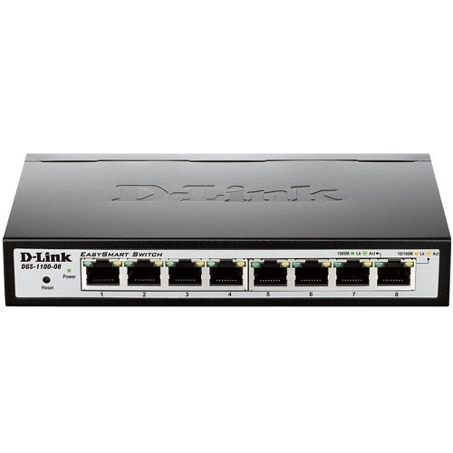 D-Link EasySmart Switch DGS-1100-08 - switch - 8 ports - managed - desktop