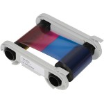 High Trust YMCKOK Color Ribbon - 1 - color (cyan, magenta, yellow, resin black, clear overcoat) - print ribbon - for  Primacy, Zenius