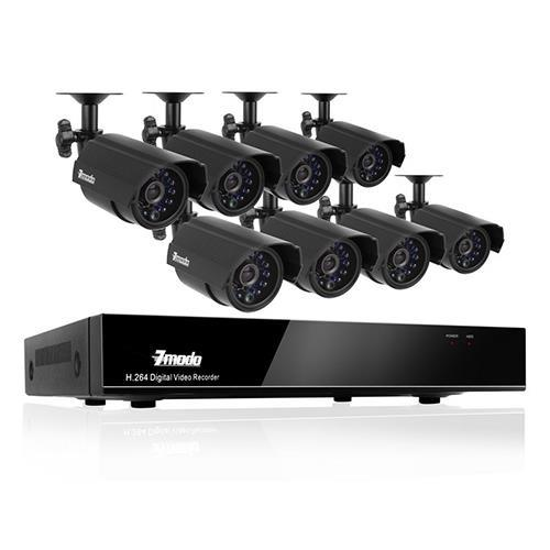 Zmodo 8 CH DVR+ 8 CAMERA + 500GB SEC CAM