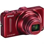 Coolpix S9300 16MP Digital Camera - Red