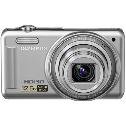 "Olympus VR-330 14 Megapixel Digital Camera with 3.0"" LCD Display (Silver) - Refurbished"