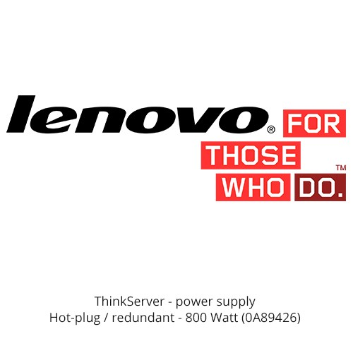 Lenovo ThinkServer 800W Hot Swap Redundant Power Supply