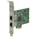 332T - Network adapter - PCIe 2.0 low profile - Gigabit Ethernet x 2 - for ProLiant DL360 Gen10, MicroServer Gen10, ML110 Gen10, ML30 Gen9, ML350 Gen10, XL450 Gen10