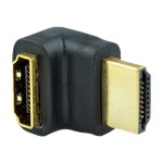 55 series - HDMI right angle adapter - HDMI (M) to HDMI (F) - 90° connector